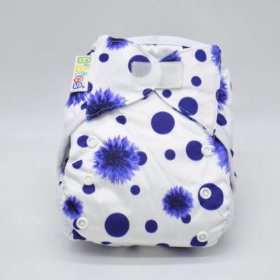 couche lavable b'bies tout en deux bambou fleur bleu Te28930