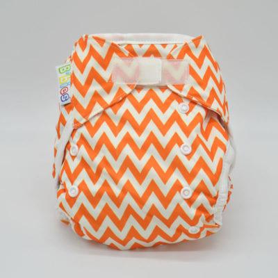 couche lavable b'bies tout en deux orange blanc TE28888
