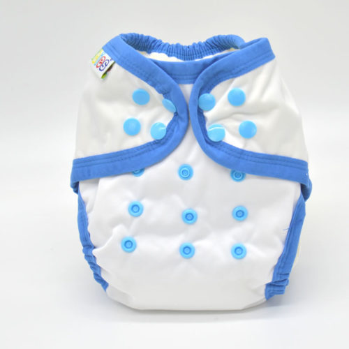 couche lavable tout en un bambou B'bies blanc bleu TE1b0922