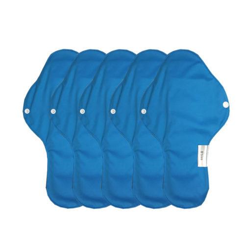 serviette bleu hygiénique lavable mypads SH4420-M-BLE