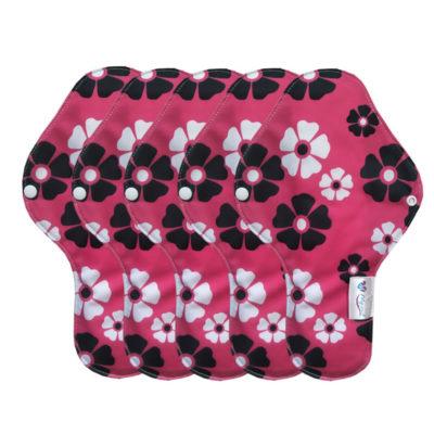 serviette fleur hygiénique lavable mypads SH4420-M-FLEU