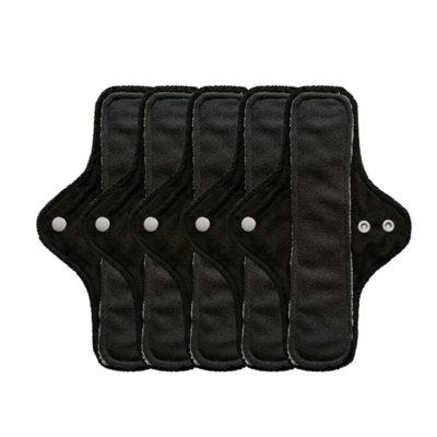 serviette noir hygiénique lavable mypads SH4420-M-NOI