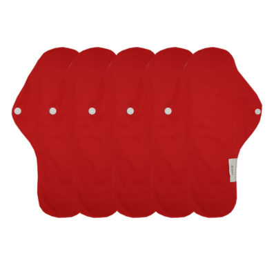 serviette rouge hygiénique lavable mypads SH4420-M-RED