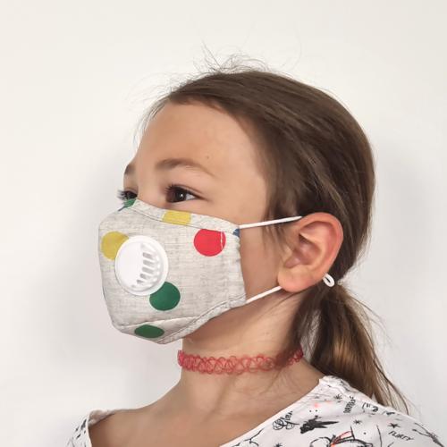 VEP4503-BEI Masque en tissu avec valve + 1 filtre b'bies