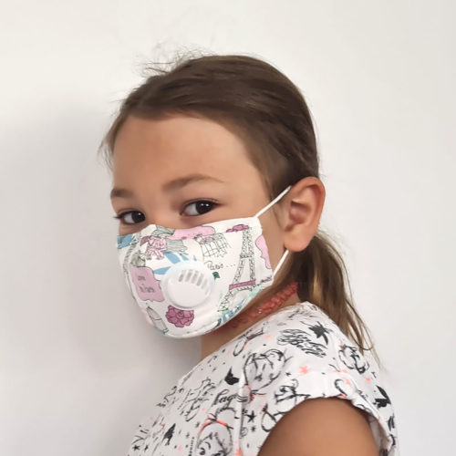 VEP4503-PAR Masque en tissu avec valve + 1 filtre b'bies